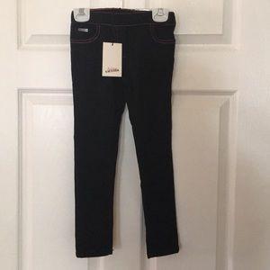 Brand new girls black jean size 5